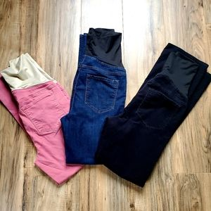 Loft maternity pants bundle 6M